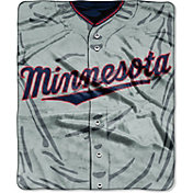Northwest Minnesota Twins Jersey Raschel Throw Blanket