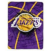 Northwest Los Angeles Lakers Raschel Shadow Play Blanket