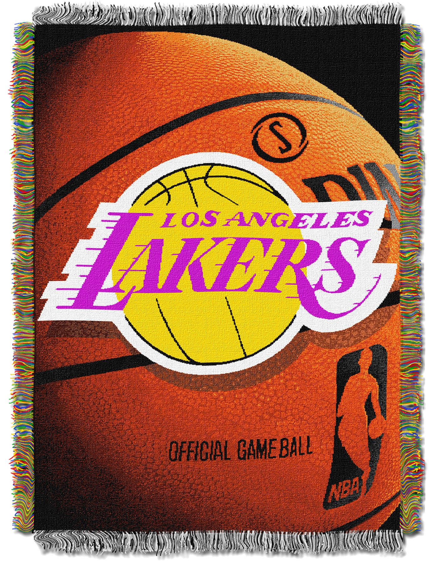 Northwest Los Angeles Lakers Photo Real Throw Blanket