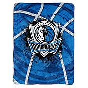 Northwest Dallas Mavericks Raschel Shadow Play Blanket