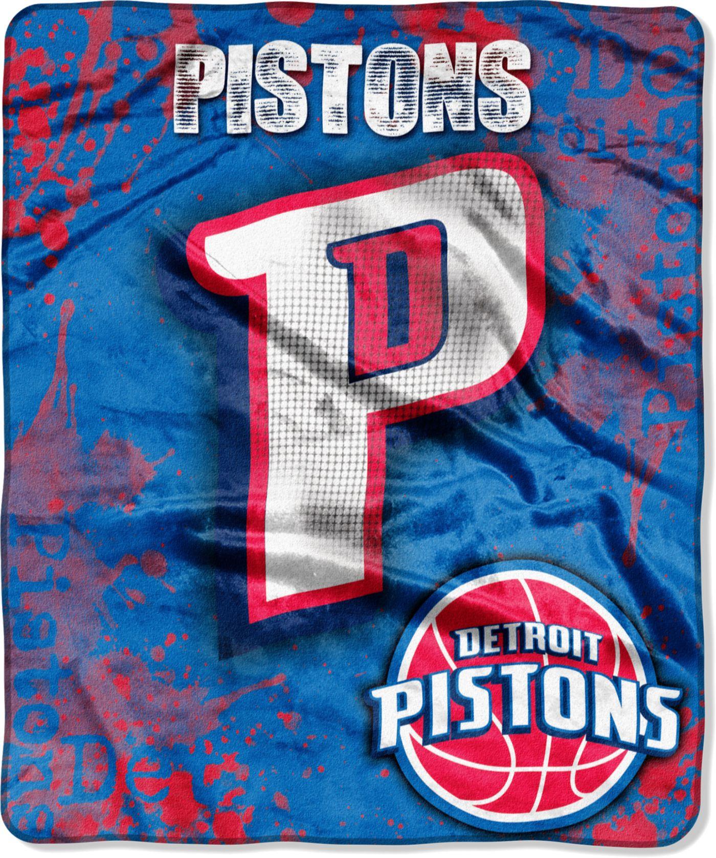 Northwest Detroit Pistons Dropdown Raschel Throw Blanket