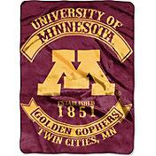 Northwest Minnesota  Golden Gophers Raschel Throw