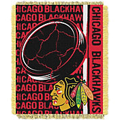Northwest Chicago Blackhawks Double Play 48 in x 60 in Jacquard Woven Throw Blanket