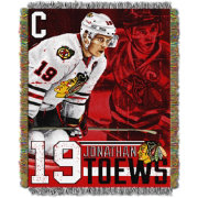 Northwest Chicago Blackhawks Jonathan Toews #19  Tapestry Throw 48 in x 60 in Blanket
