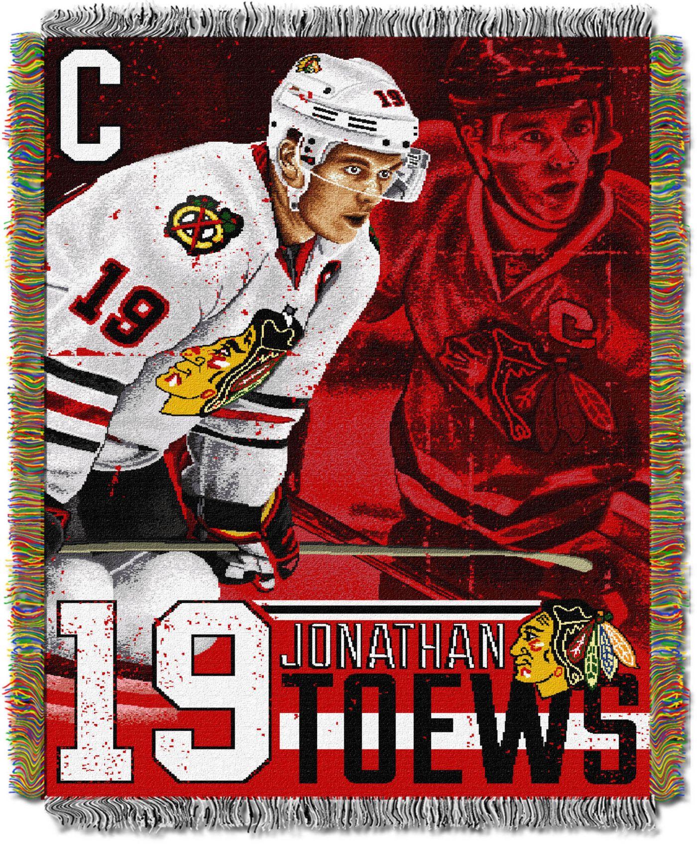 Northwest Chicago Blackhawks Jonathan Toews #19  Tapestry Throw 48 in x 60 in Blanket