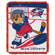 Northwest Columbus Blue Jackets Score Baby 36 in x 46 in Jacquard Woven Throw Blanket