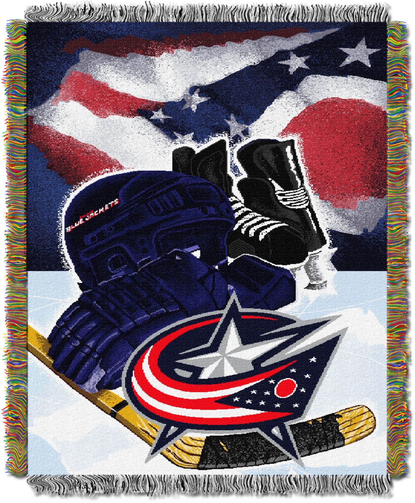 Northwest Columbus Blue Jackets 48 in x 60 in Home Ice Advantage Tapestry Throw Blanket