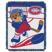 Northwest Montreal Canadiens Score Baby 36 in x 46 in Jacquard Woven Throw Blanket