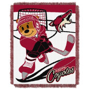 Northwest Arizona Coyotes Score Baby 36 in x 46 in Jacquard Woven Throw Blanket