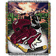 Northwest Arizona Coyotes 48 in x 60 in Home Ice Advantage Tapestry Throw Blanket