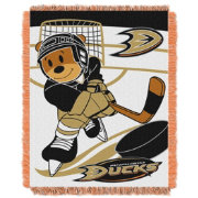 Northwest Anaheim Ducks Score Baby 36 in x 46 in Jacquard Woven Throw Blanket
