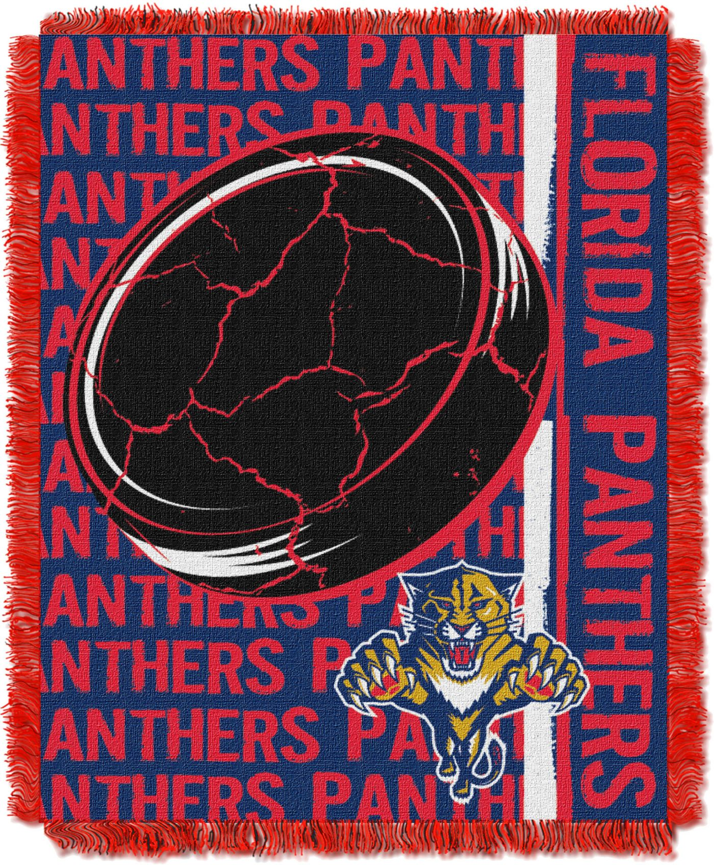 Northwest Florida Panthers Double Play 48 in x 60 in Jacquard Woven Throw Blanket