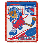 Northwest New York Rangers Score Baby 36 in x 46 in Jacquard Woven Throw Blanket