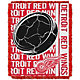 Northwest Detroit Red Wings Double Play 48 in x 60 in Jacquard Woven Throw Blanket