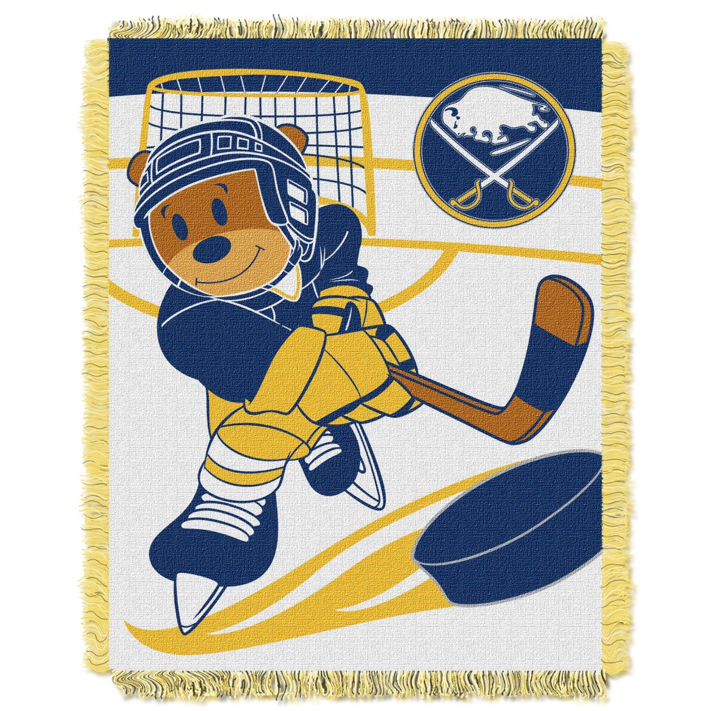 Northwest Buffalo Sabres Score Baby 36 in x 46 in Jacquard Woven Throw Blanket