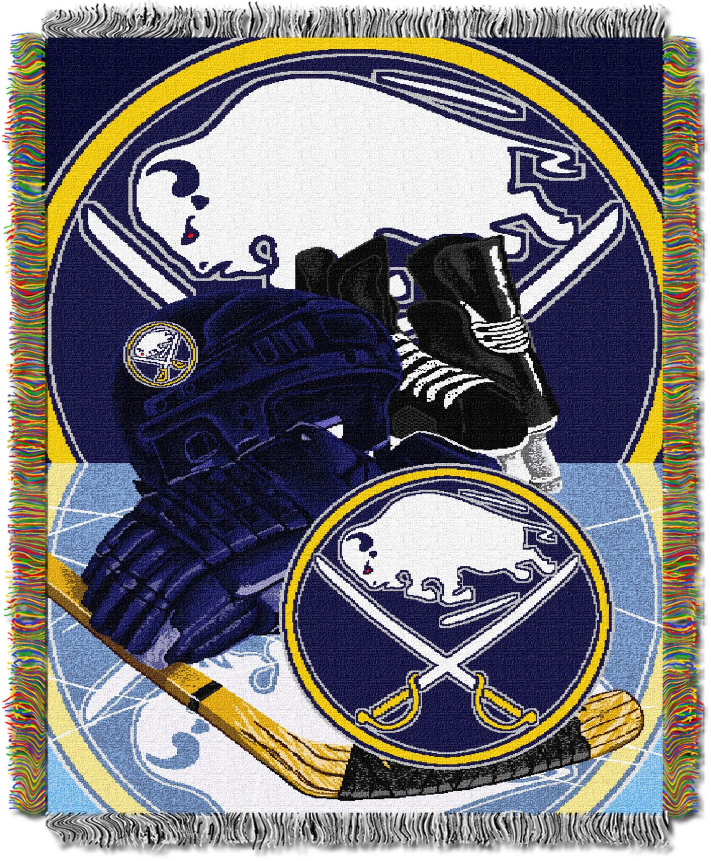 Northwest Buffalo Sabres 48 in x 60 in Home Ice Advantage Tapestry Throw Blanket