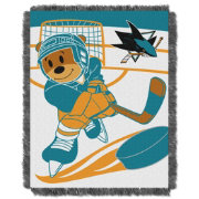 Northwest San Jose Sharks Score Baby 36 in x 46 in Jacquard Woven Throw Blanket
