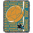 Northwest San Jose Sharks Double Play 48 in x 60 in Jacquard Woven Throw Blanket