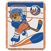 Northwest New York Islanders Score Baby 36 in x 46 in Jacquard Woven Throw Blanket