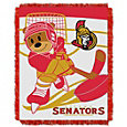 Northwest Ottawa Senators Score Baby 36 in x 46 in Jacquard Woven Throw Blanket