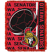 Northwest Ottawa Senators Double Play 48 in x 60 in Jacquard Woven Throw Blanket
