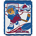 Northwest Colorado Avalanche Score Baby 36 in x 46 in Jacquard Woven Throw Blanket