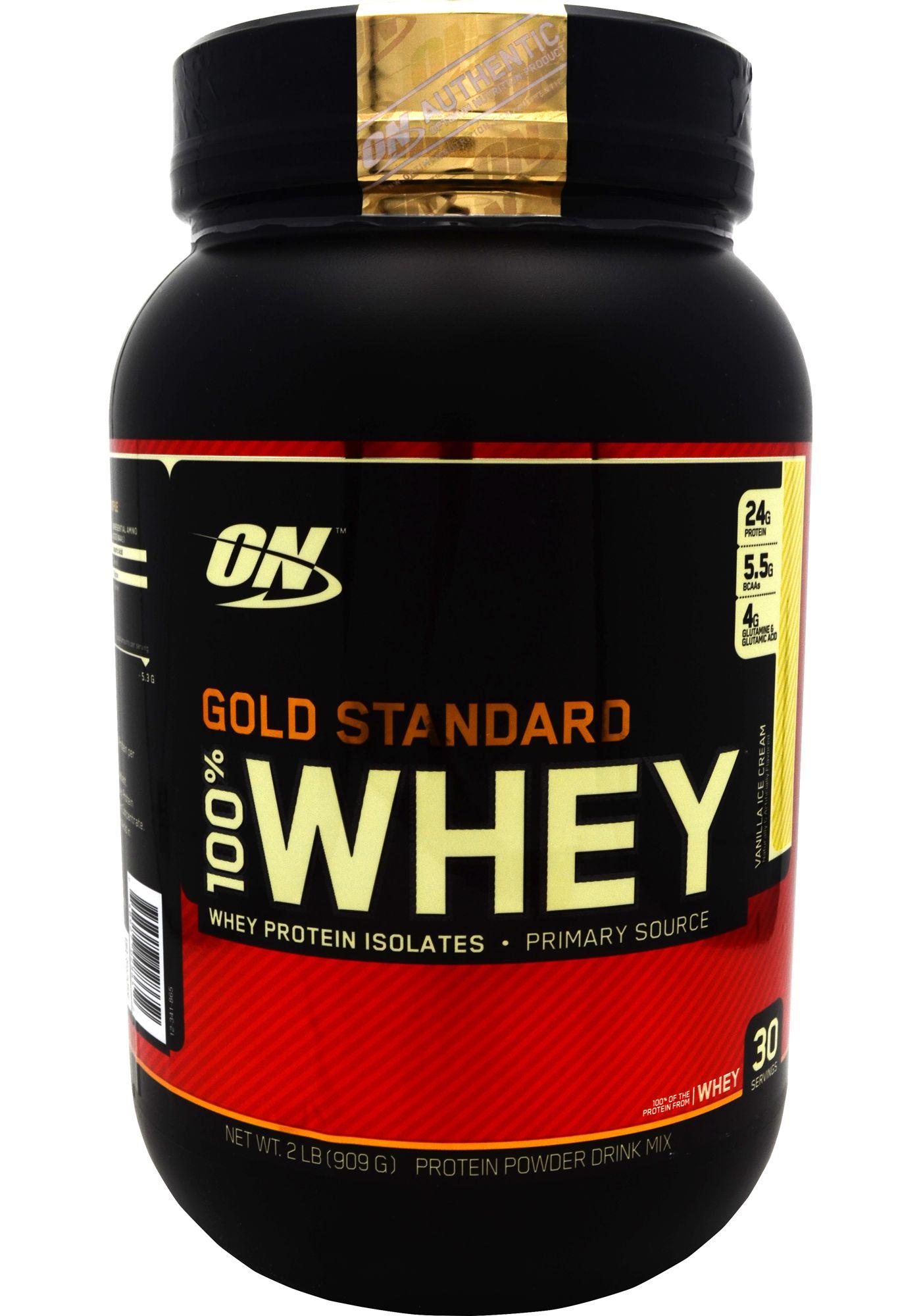 Optimum Nutrition 100% Whey Gold Standard Vanilla Ice Cream 2 lbs