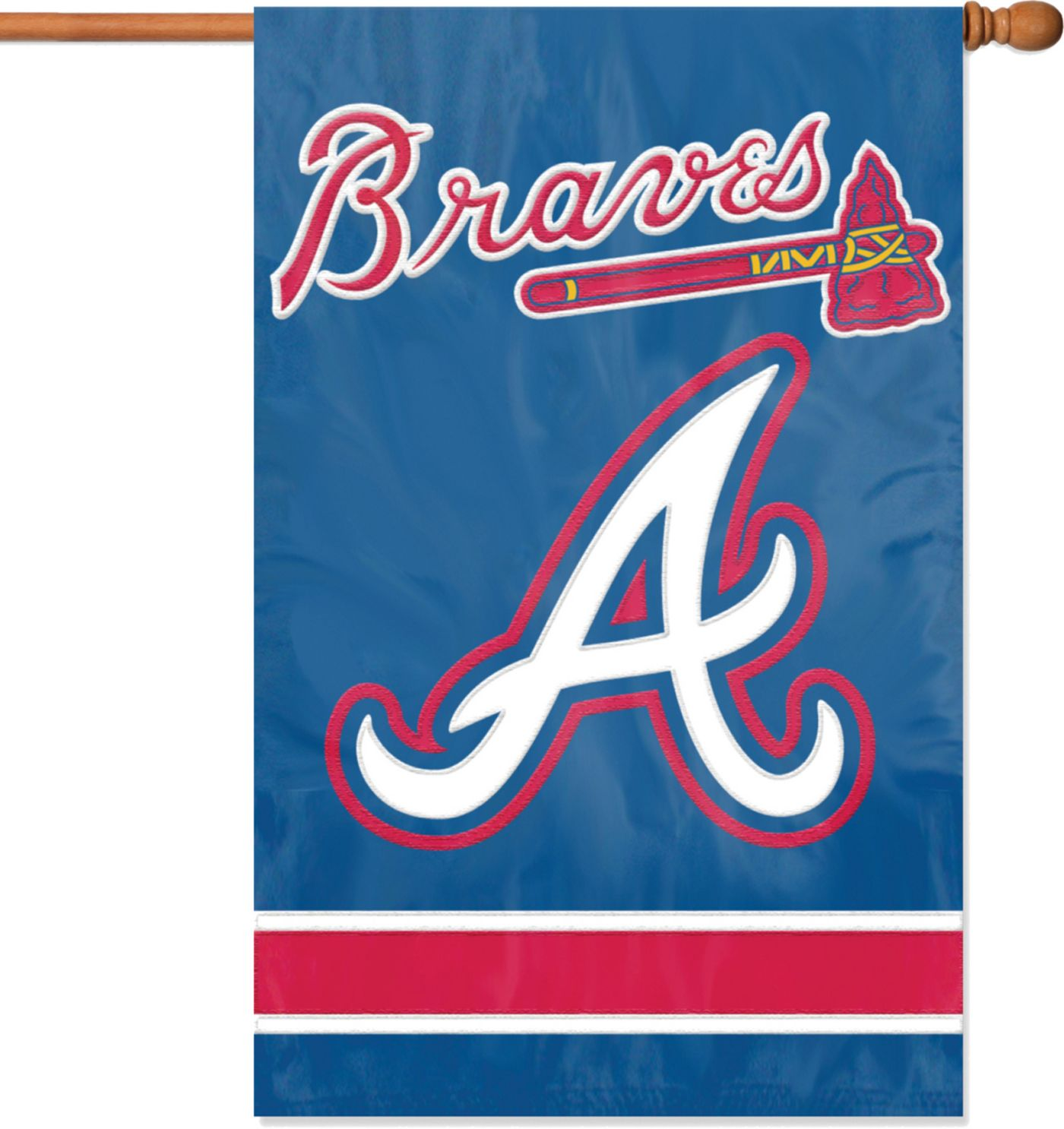 Party Animal Atlanta Braves Applique Banner Flag