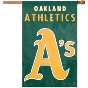 Party Animal Oakland Athletics Applique Banner Flag