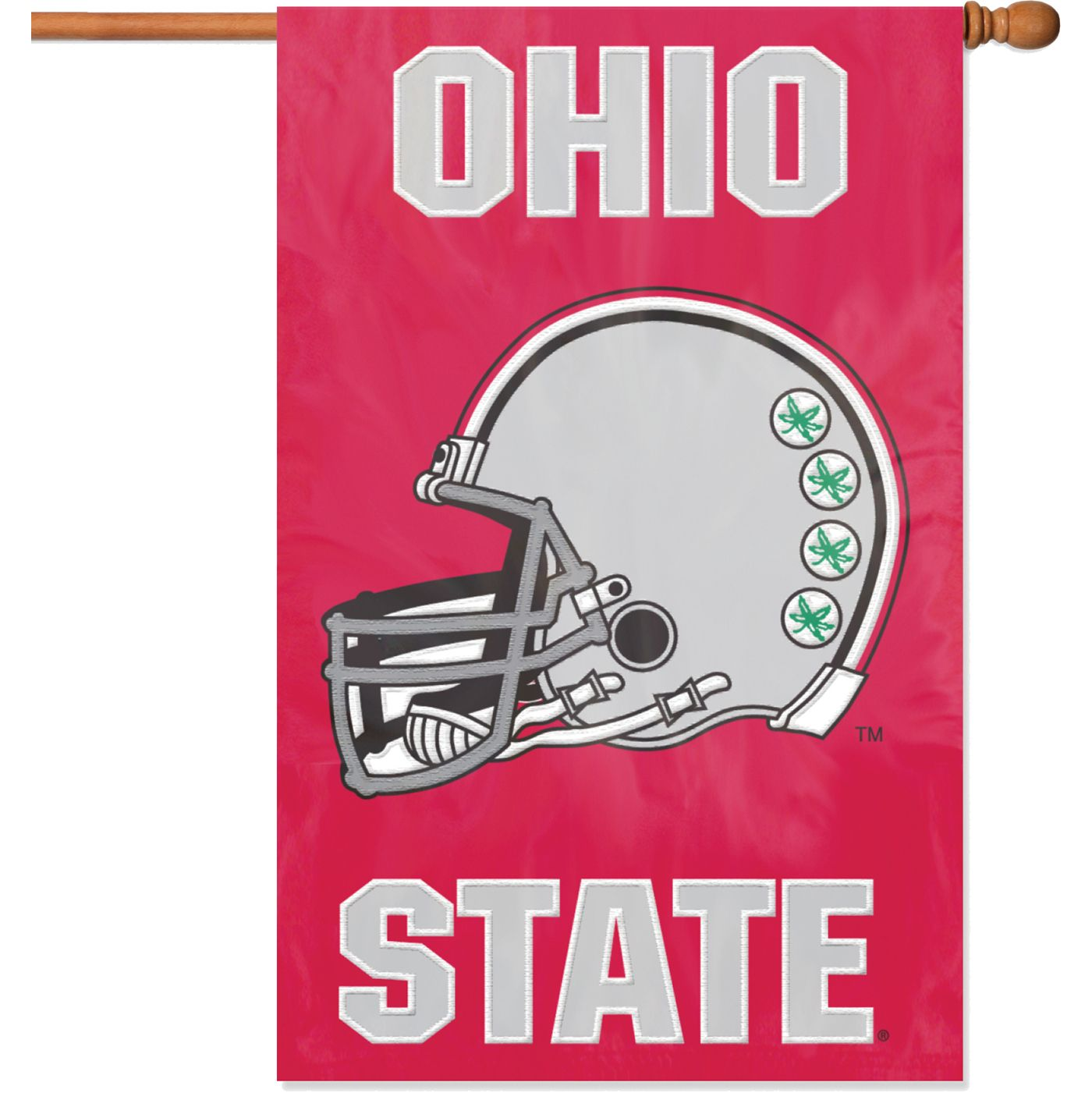 Party Animal Ohio State Buckeyes House Flag