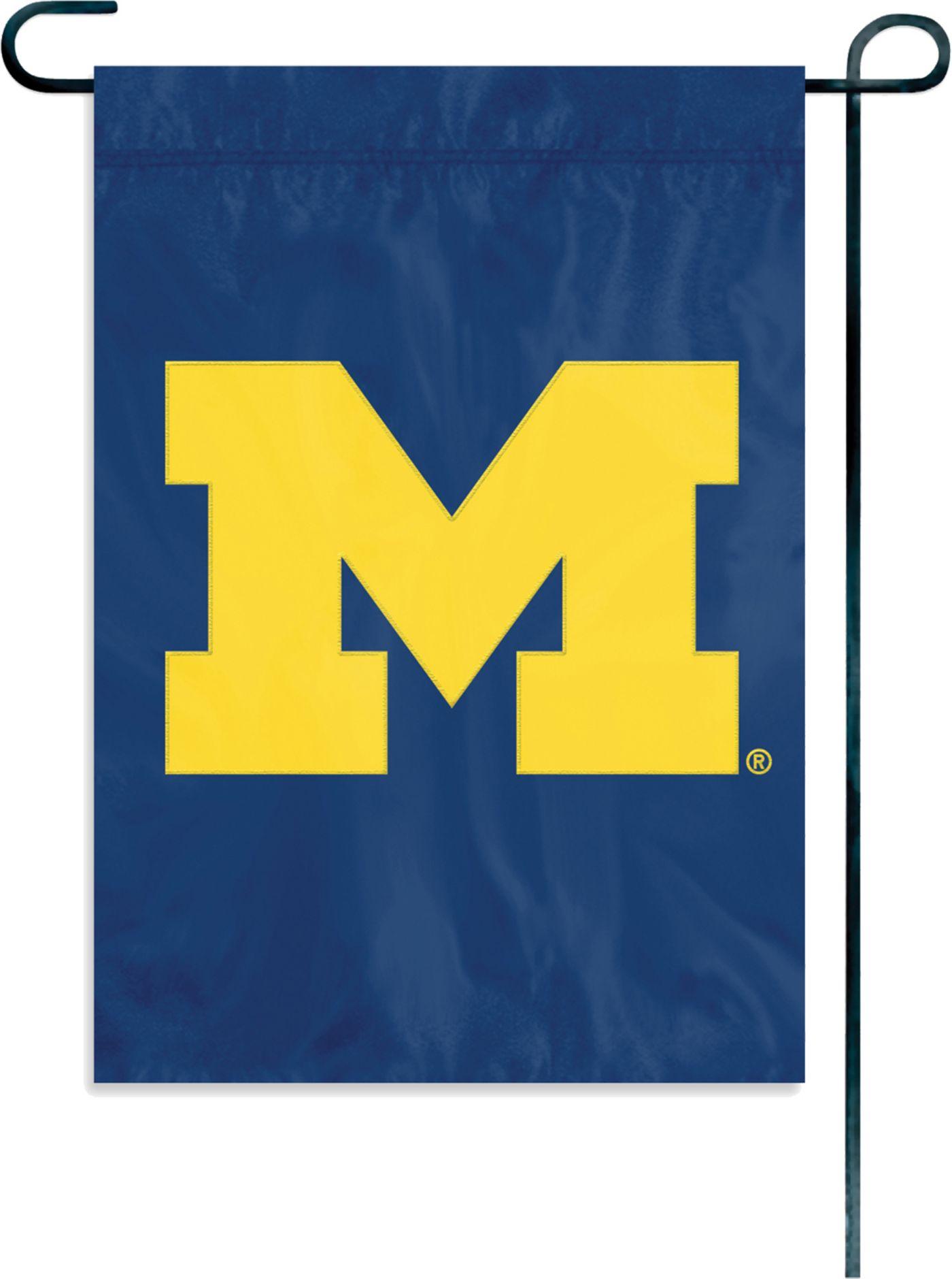 Party Animal Michigan Wolverines Garden/Window Flag