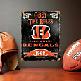 Party Animal Cincinnati Bengals Embossed Metal Sign