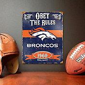 Party Animal Denver Broncos Embossed Metal Sign
