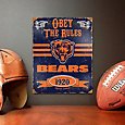 Party Animal Chicago Bears Embossed Metal Sign