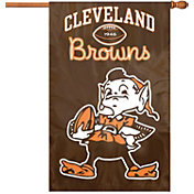 Party Animal Cleveland Browns Vintage House Flag