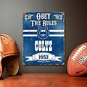 Party Animal Indianapolis Colts Embossed Metal Sign