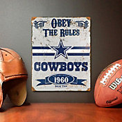Party Animal Dallas Cowboys Embossed Metal Sign