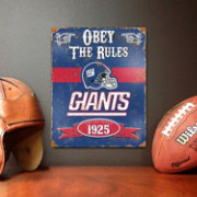 Party Animal New York Giants Embossed Metal Sign