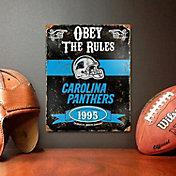 Party Animal Carolina Panthers Embossed Metal Sign