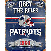 Party Animal New England Patriots Embossed Metal Sign