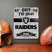 Party Animal Oakland Raiders Embossed Metal Sign