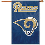 Party Animal Los Angeles Rams Applique Banner Flag