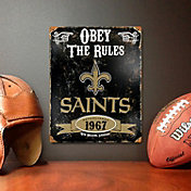 Party Animal New Orleans Saints Embossed Metal Sign