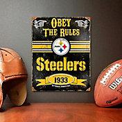 Party Animal Pittsburgh Steelers Embossed Metal Sign