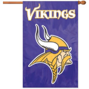 Party Animal Minnesota Vikings Applique Banner Flag