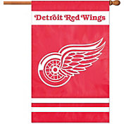 Party Animal Detroit Red Wings Applique Banner Flag