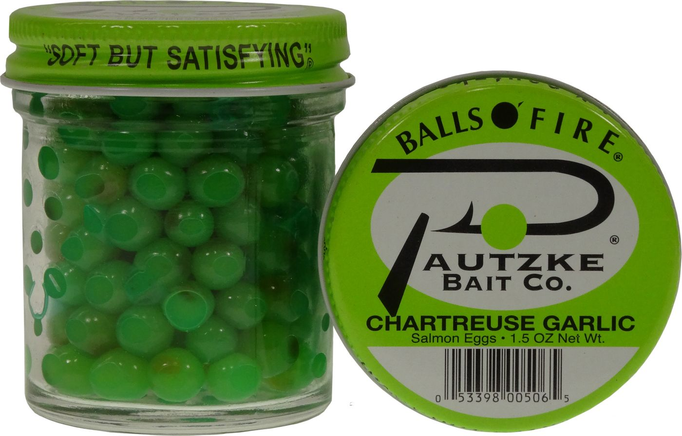 Pautzke Balls O' Fire Chartreuse Garlic Salmon Eggs