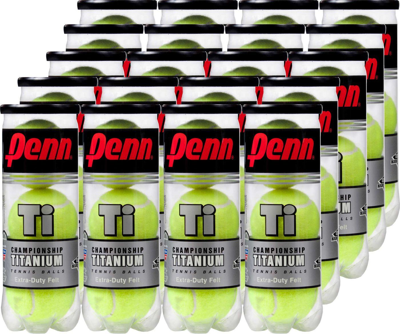Penn Championship Ti Tennis Balls – 20 Can Pack
