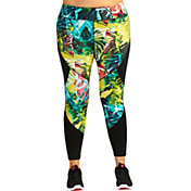 Pink Lotus Women's Plus Size Raveforest Stems Printed Legggings