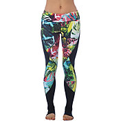 Pink Lotus Women's Raveforest Stems Printed Leggings